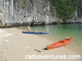 Kayaking in Cat Ba, Kayaking in Ha Long Bay (1 day or half day)